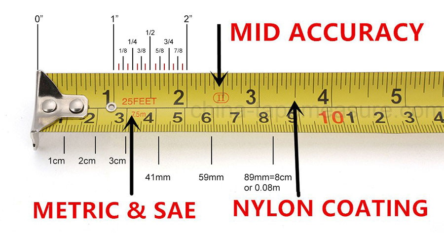 how to read a steel measuring tape china tape measure. Black Bedroom Furniture Sets. Home Design Ideas