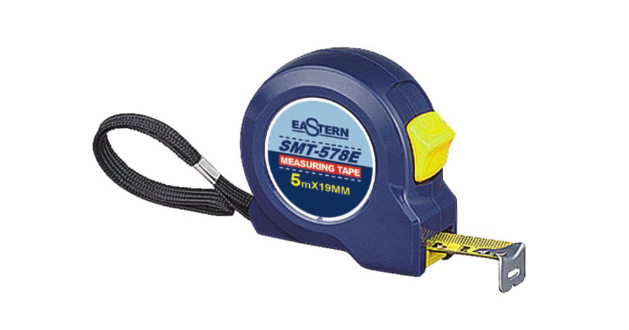 Classic 5M Navy Steel Measuring Tape With Strong Wrist